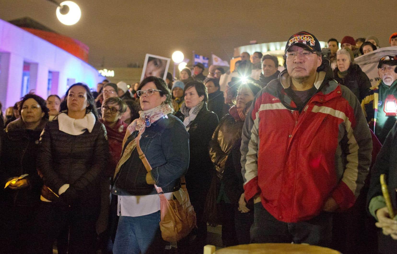 Vigile en hommage aux femmes autochtones victimes de violence, en octobre dernier à Montréal