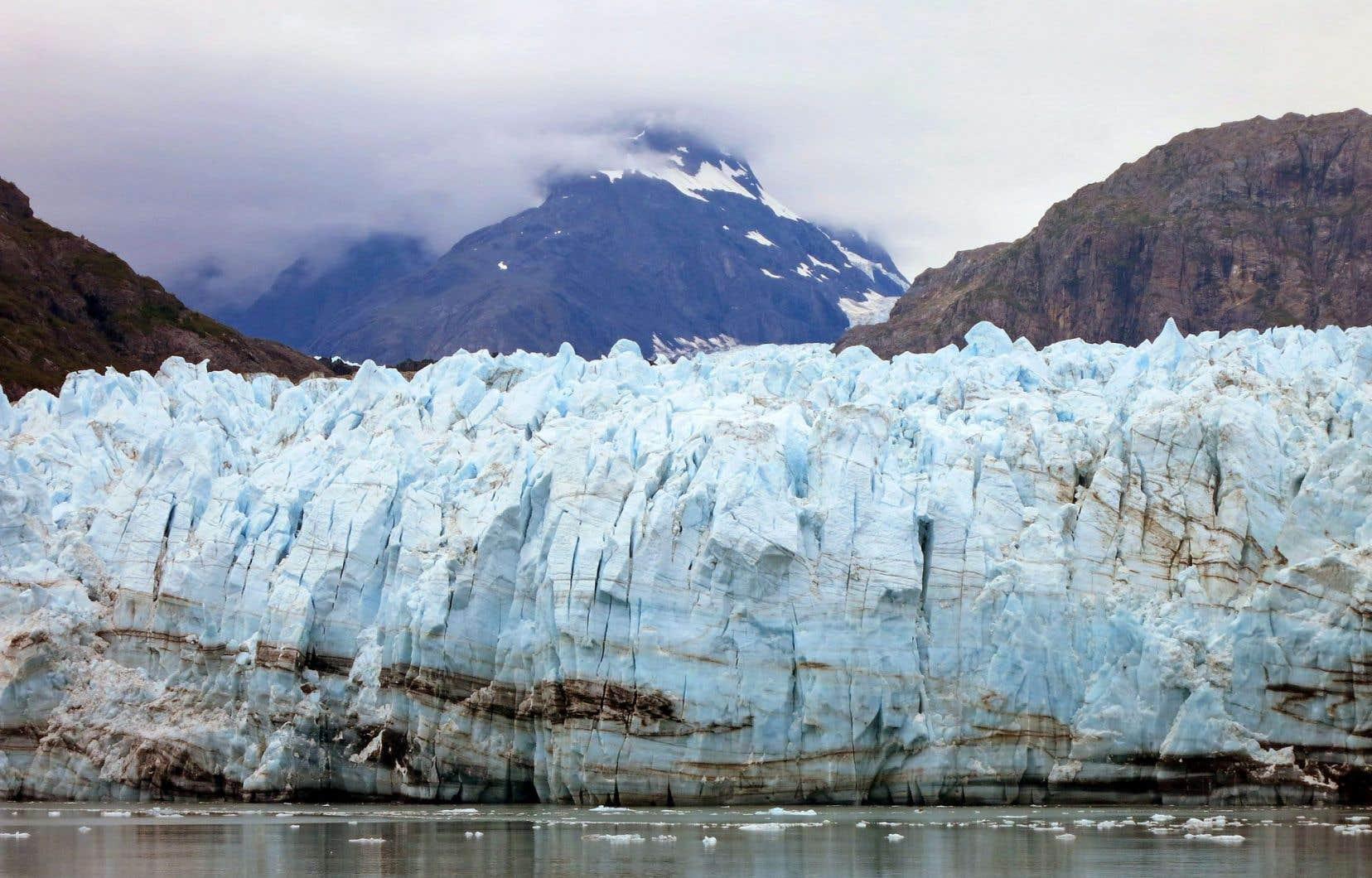 Le glacier Margerie, en Alaska, subit les conséquences des changements climatiques.