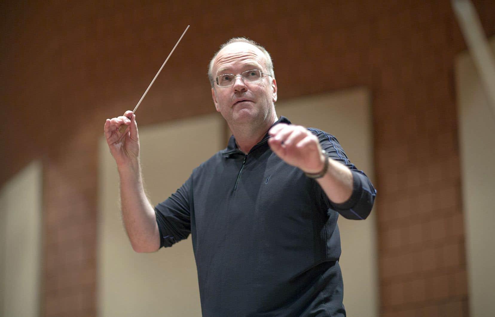 Bernard Labadie, photographié en 2013, revivra le plaisir de diriger un orchestre.