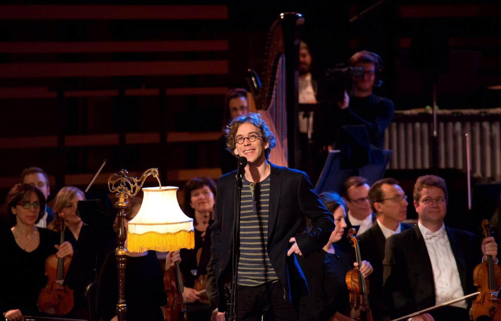 Au début de l'aventure, Fred Pellerin (ici lors du spectacle de 2013) avait «des connaissances très minces en musique symphonique», dit-il.
