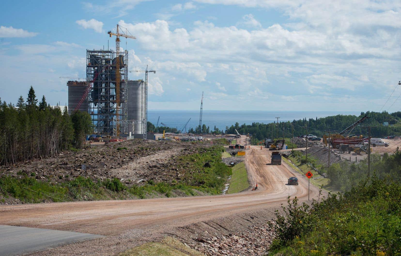 La cimenterie McInnis de Port-Daniel-Gascons, en Gaspésie