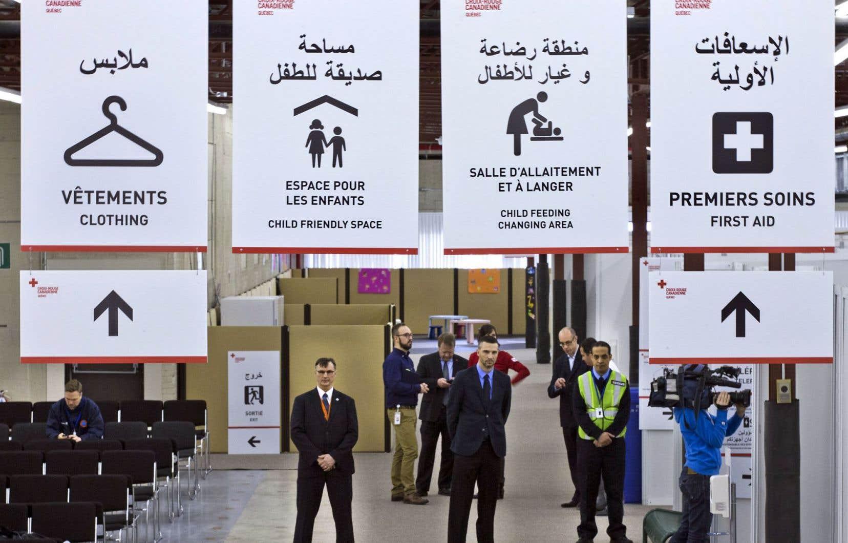 Le Centre de bienvenue des réfugiés est situé dans le parc industriel de Saint-Laurent.
