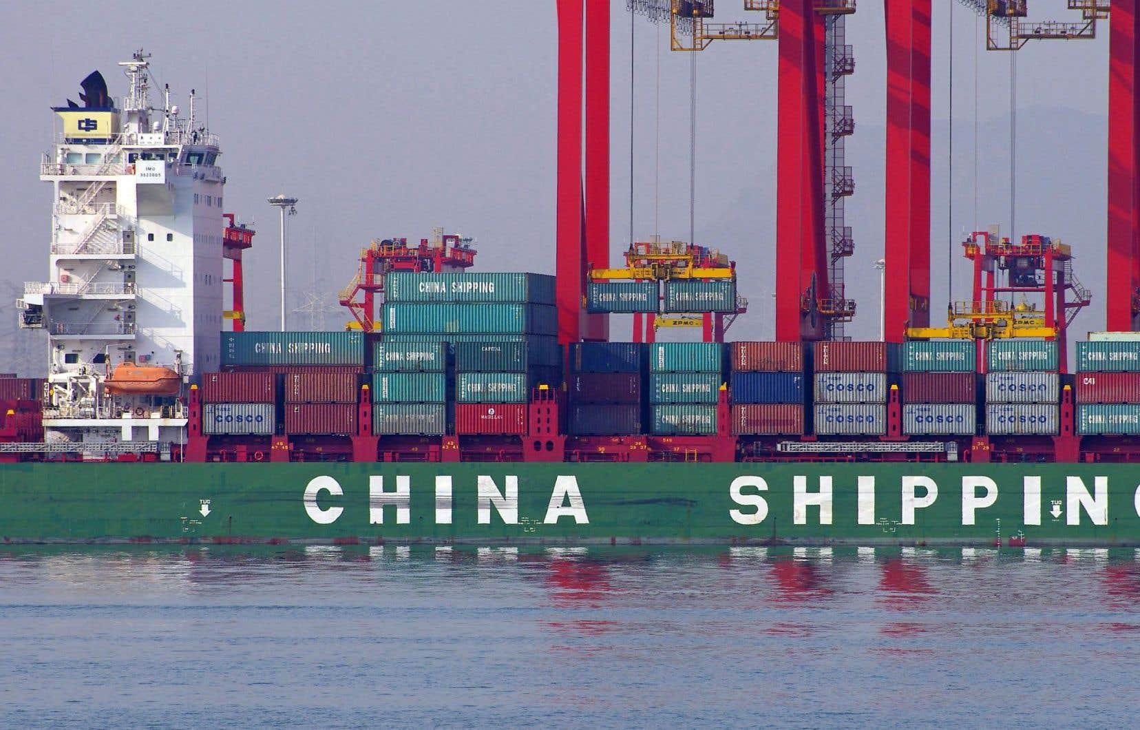 Les exportations de la Chine ont reculé pour un cinquième mois consécutif.