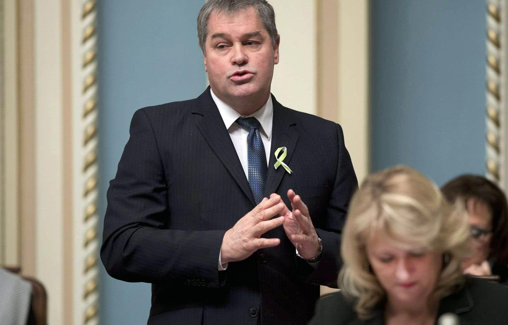 Le parcours politique de l'ex-ministre Yves Bolduc a été cahoteux. Il a démissionné en février.