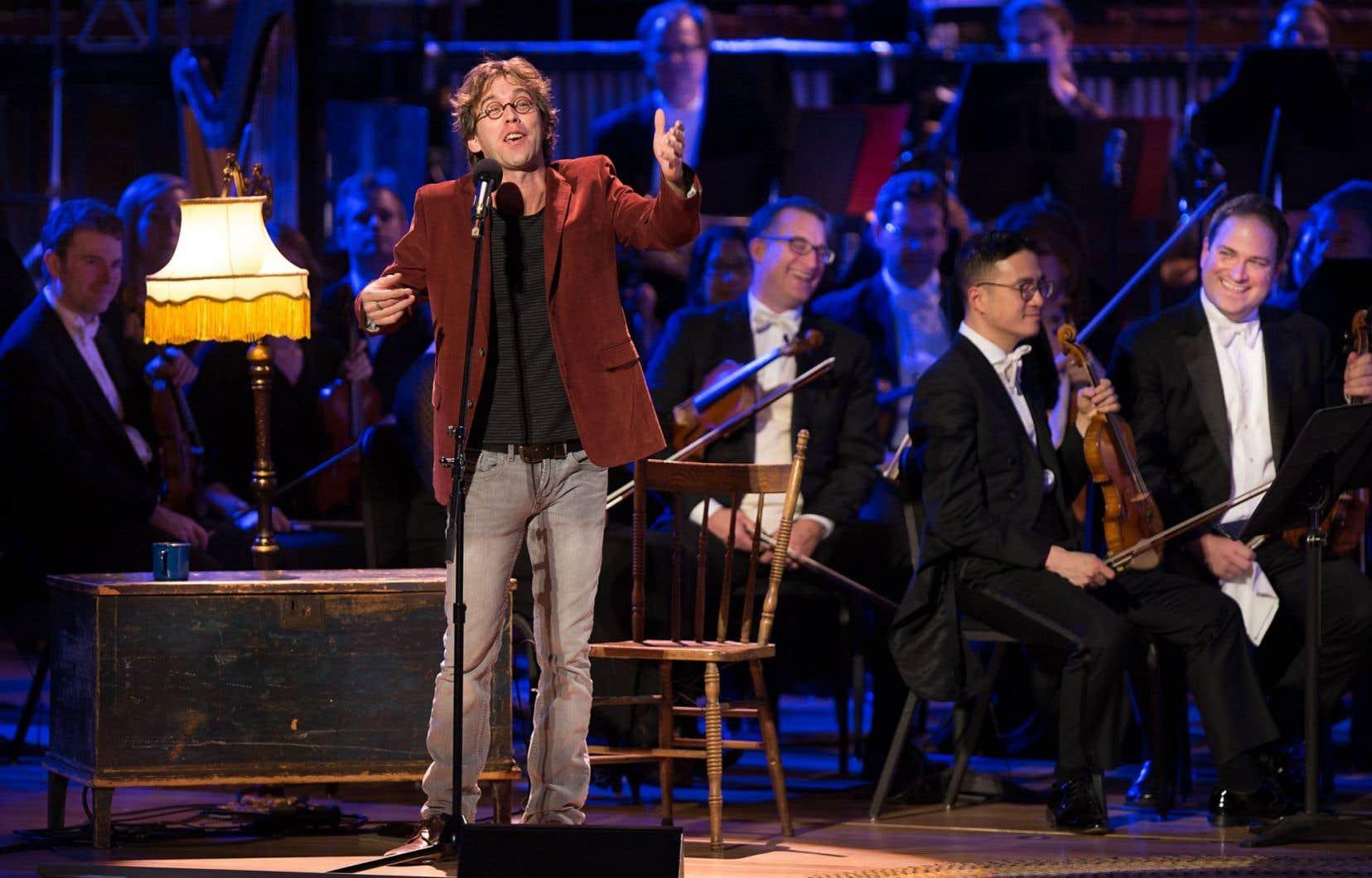 Fred Pellerin et l'Orchestre symphonique de Montréal s'associaient mercredi soir pour la troisième fois pour composer un conte de Noël musical.