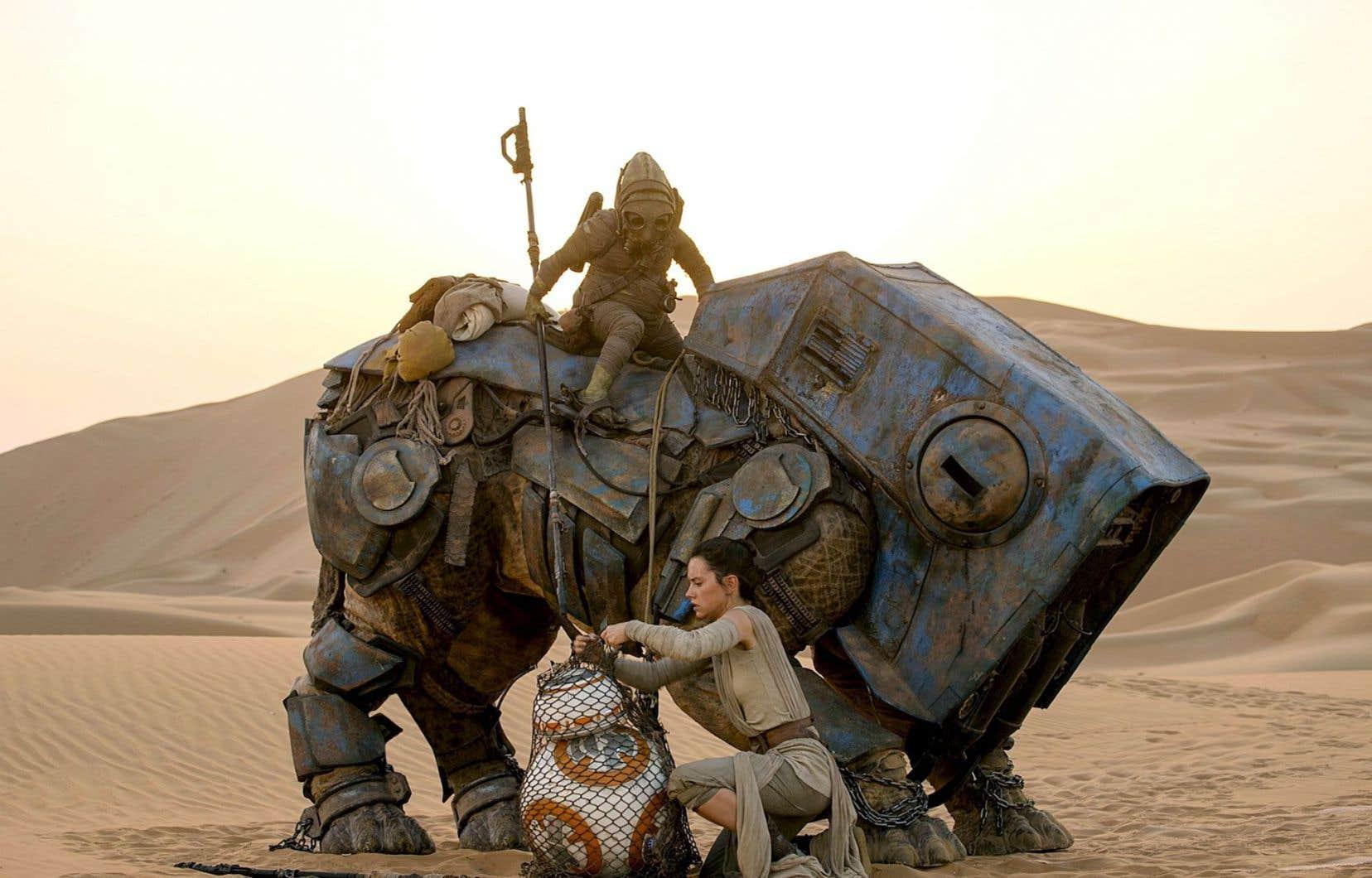 Une scène du nouveau<em>«</em>Star Wars, épisode VII. Le réveil de la Force» du réalisateur J.J. Abrams