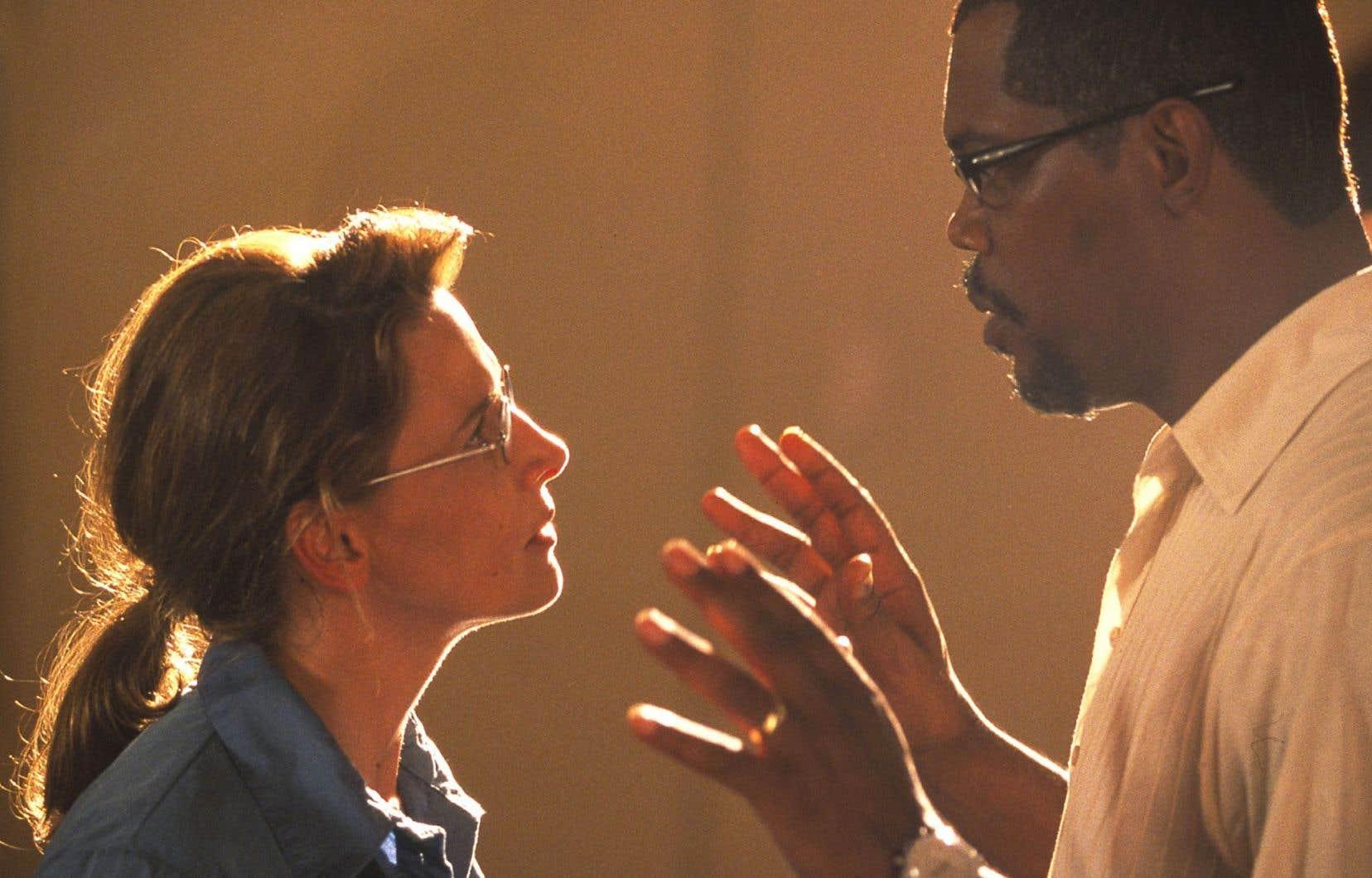 Juliette Binoche dans une scène du film«In My Country». En France, l'actrice se double elle-même. Pas au Québec.