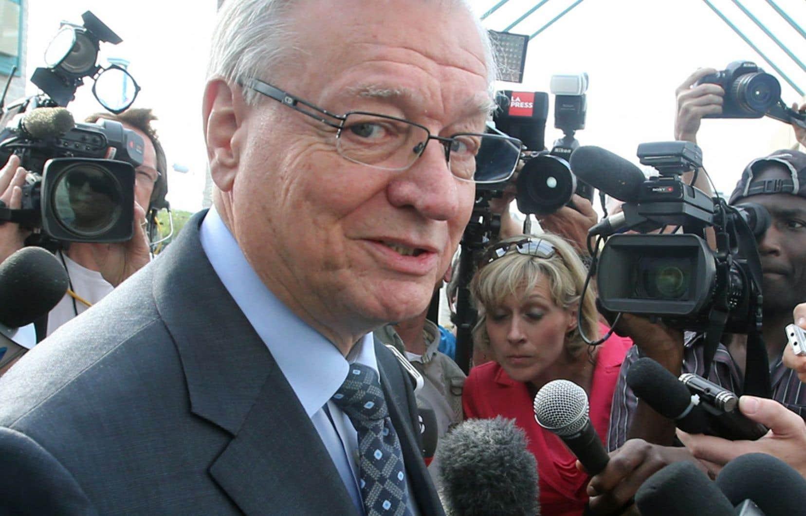 Gilles Vaillancourt au palais de justice de Laval, en mai 2013
