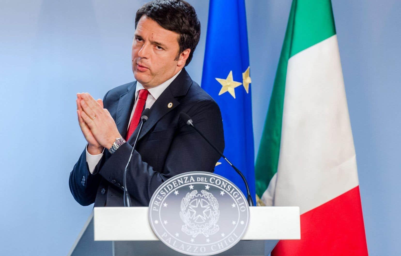 Le chef du gouvernement italien, Matteo Renzi