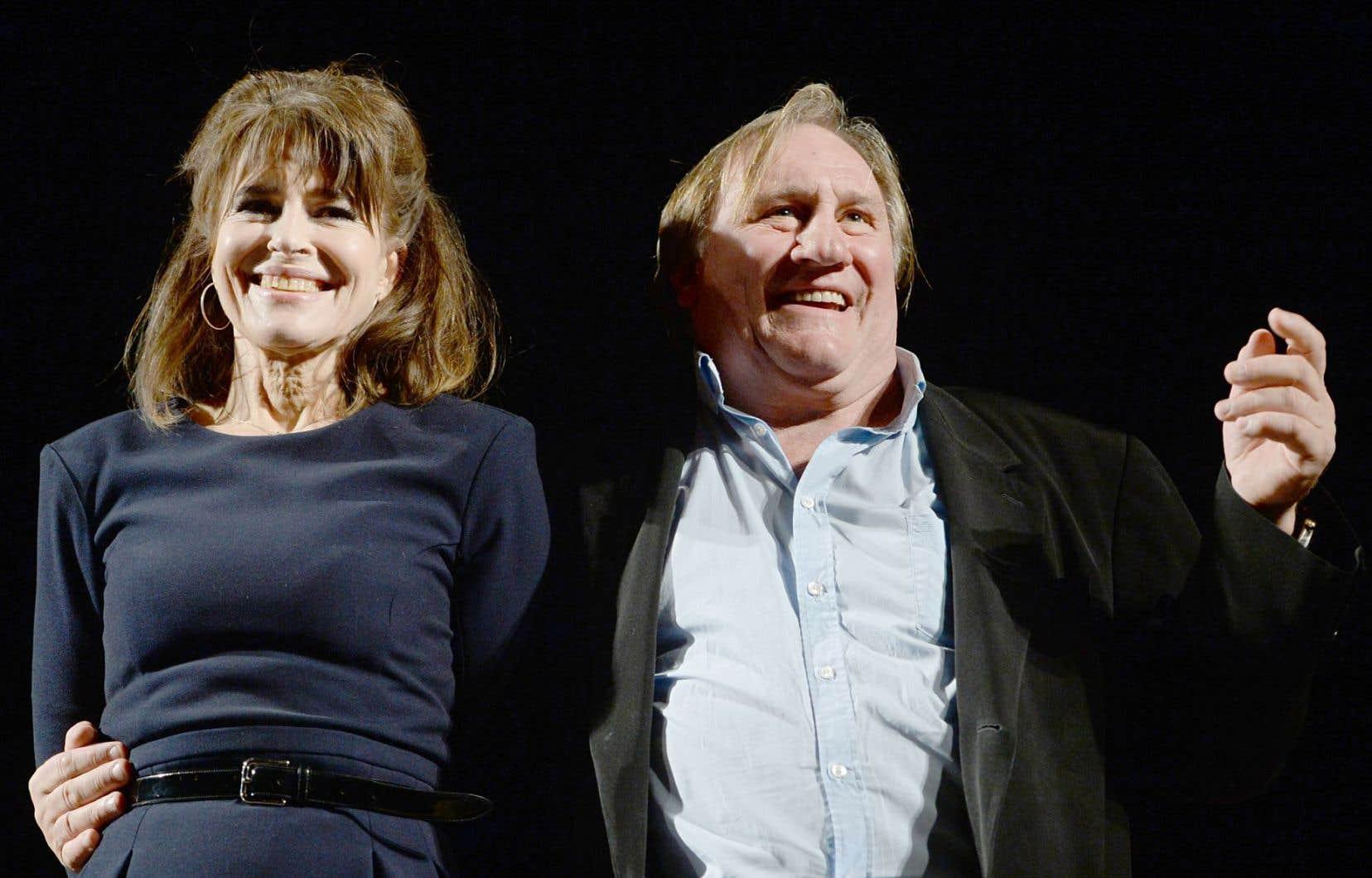 L'actrice-cinéaste Fanny Ardant (à gauche) dirigera Gérard Depardieu dans le rôle du dictateur.
