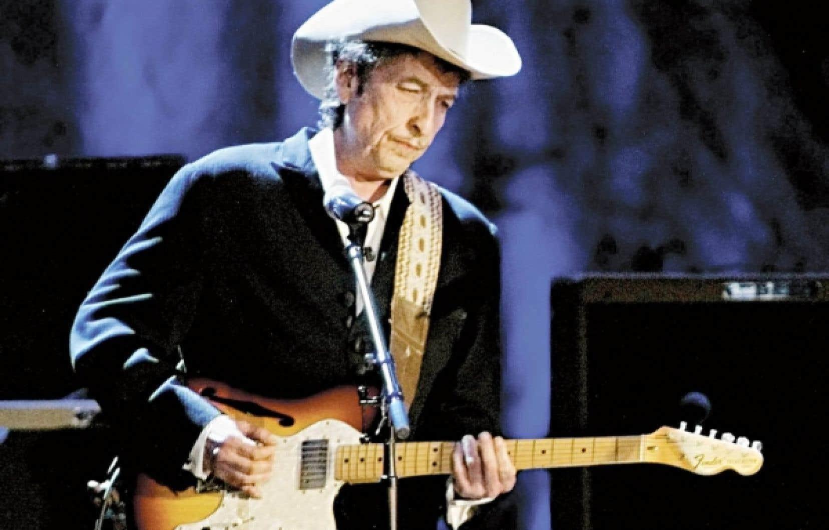 Bob Dylan en concert à Los Angeles en 2004.