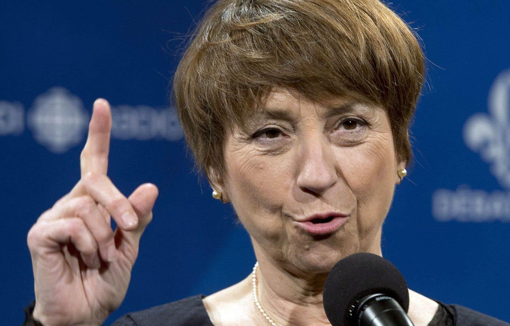 Françoise David estime que la situation actuelle est « anormale ».
