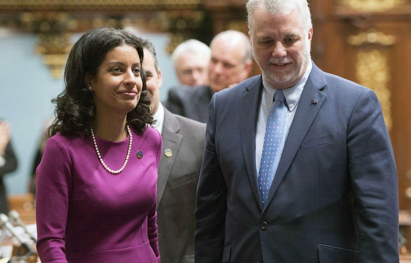 Philippe Couillard souhaite fortifier le message économique de son gouvernement. La nomination de Dominique Anglade (à gauche sur notre photo), en provenance de la CAQ, irait en ce sens.