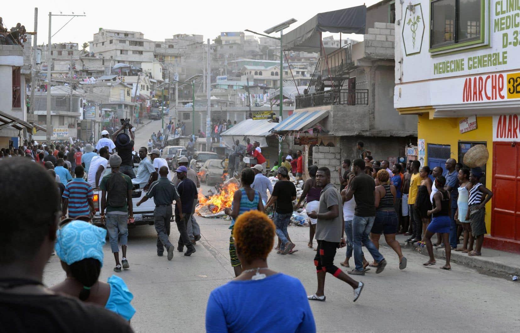 Plusieurs manifestations ont éclaté samedi et dimanche dans Port-au-Prince.