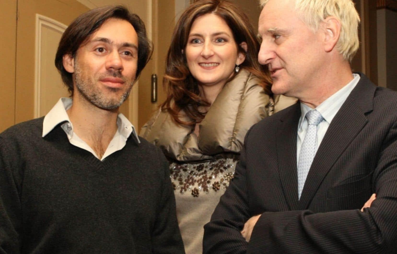 Emmanuel Mouret, Geneviève Royer et Yves Jacques