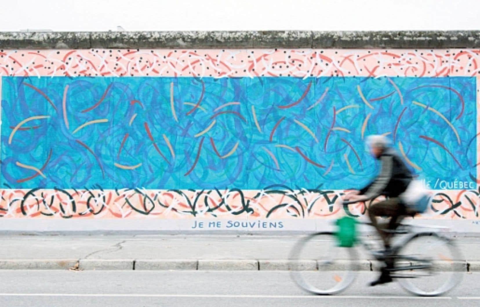 Fresque signée Pierre-Paul Maillé à l'East Side Gallery, Berlin