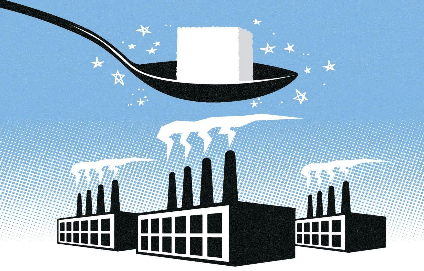 Un dessin original du documentaire «La vérité sur le sucre» montrant la toute-puissance de l'industrie du sucre.