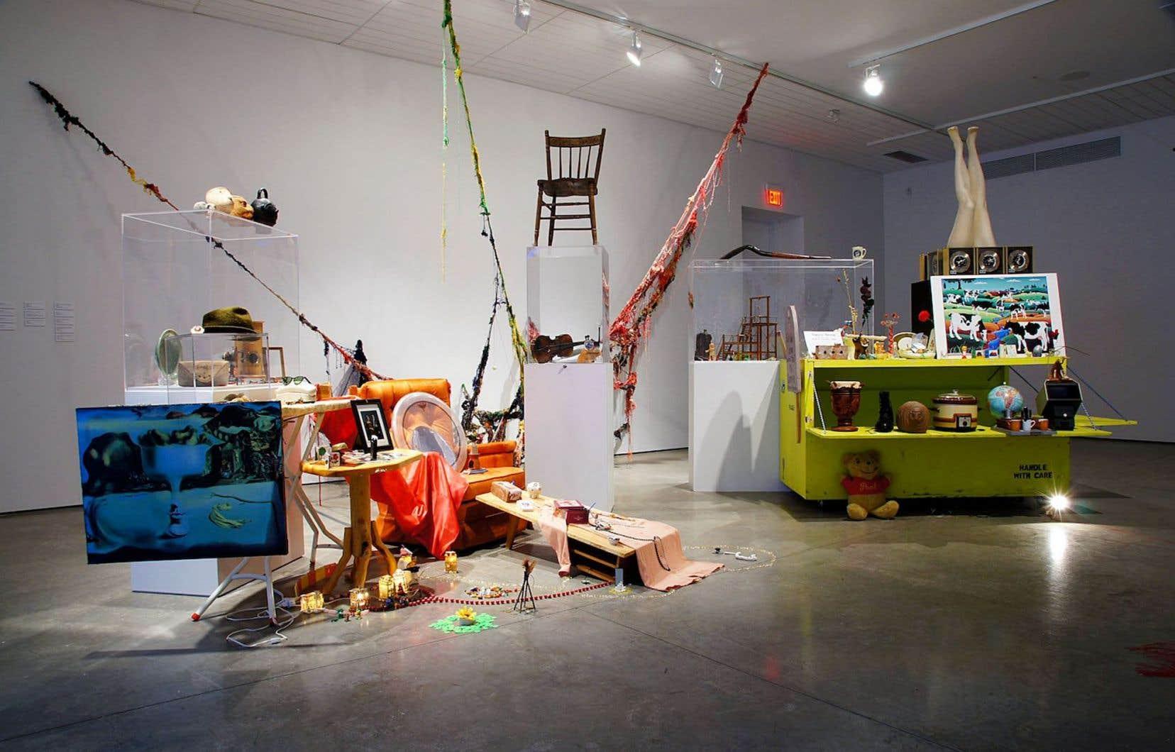 Raphaëlle de Groot, «Rencontres au sommet», vue de l'installation à la Southern Alberta Art Gallery, Lethbridge (SAAG), 2014