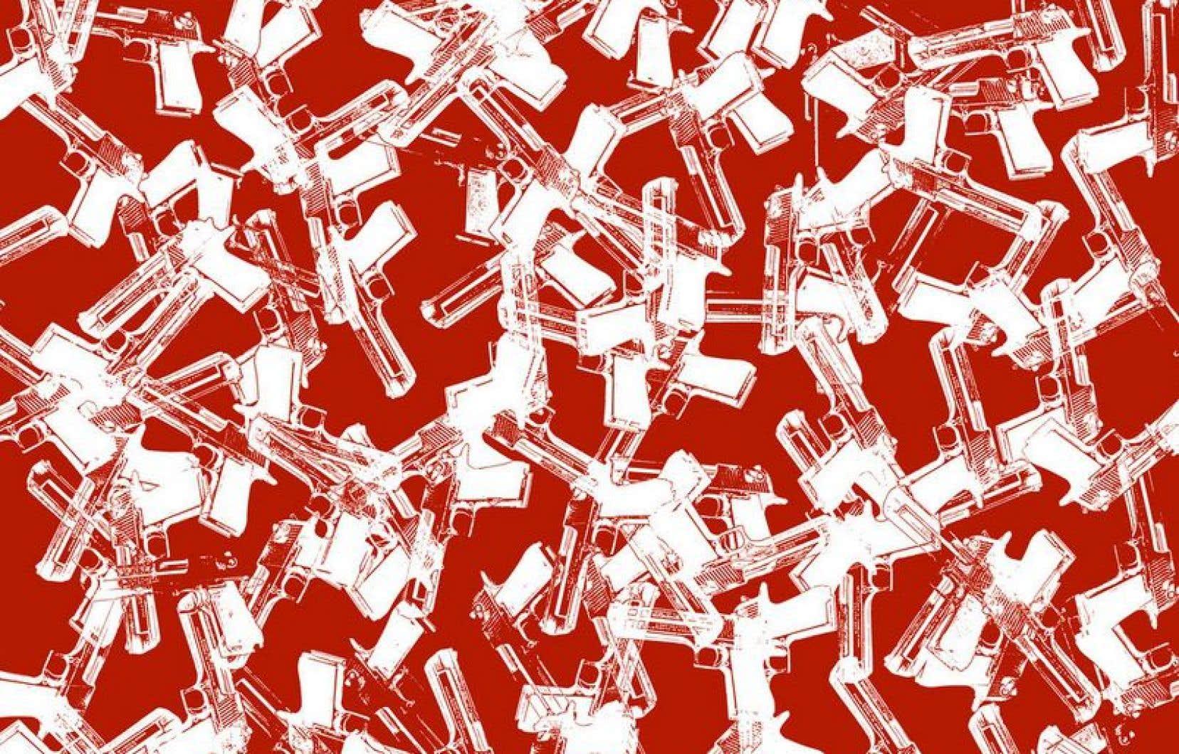 Guns, guns, guns, par l'artiste Acaos.