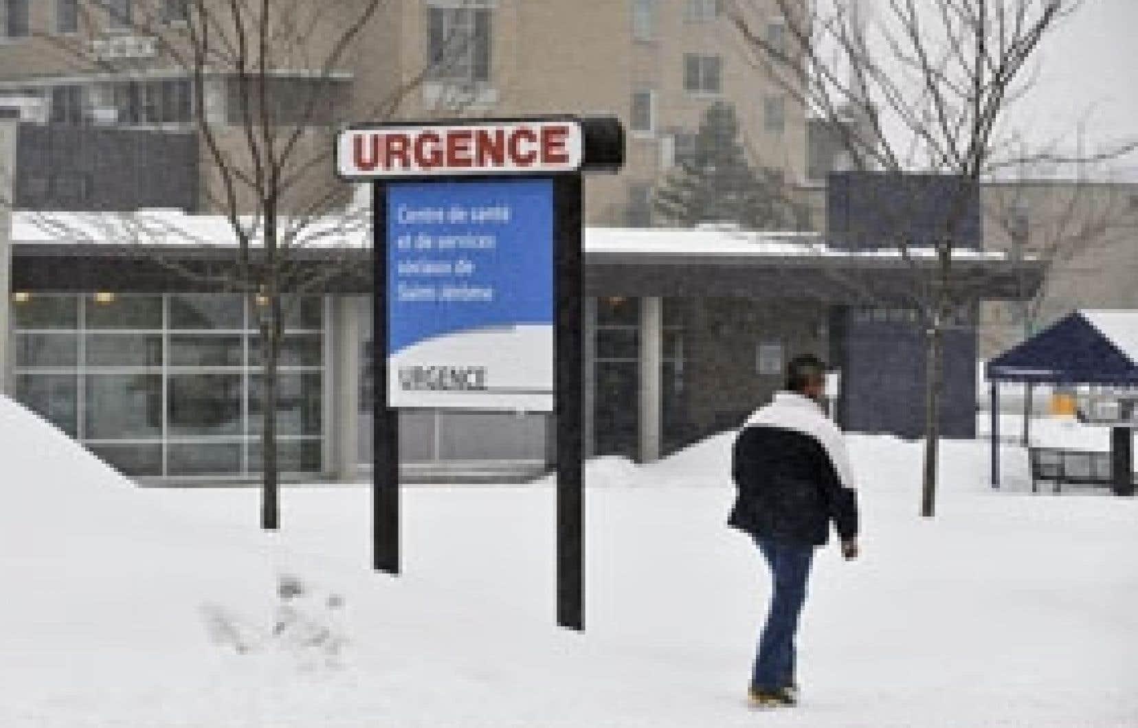 L'Hôtel-Dieu de Saint-Jérôme, où travaillait le jeune cardiologue qui aurait tué ses deux enfants avant de tenter de mettre fin à ses jours. Il était toujours hospitalisé hier à Montréal.
