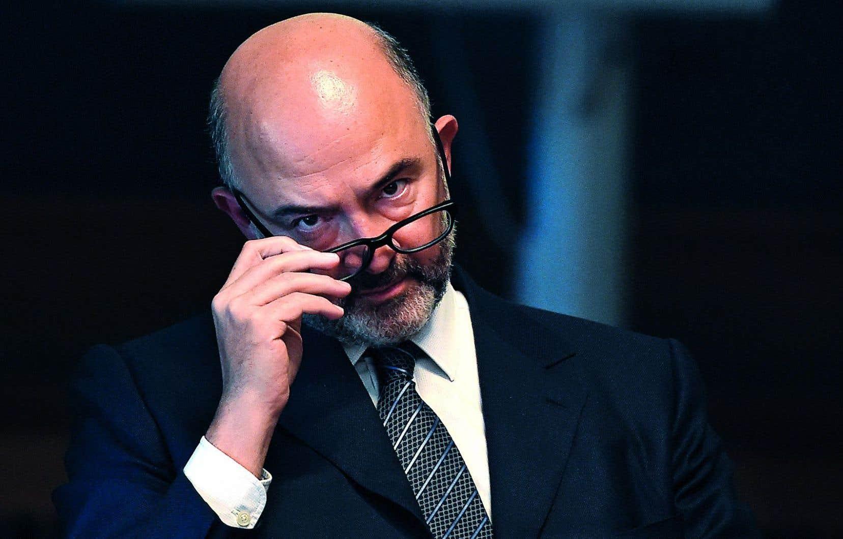 Le commissaire européen aux Affaires économiques et monétaires, Pierre Moscovici