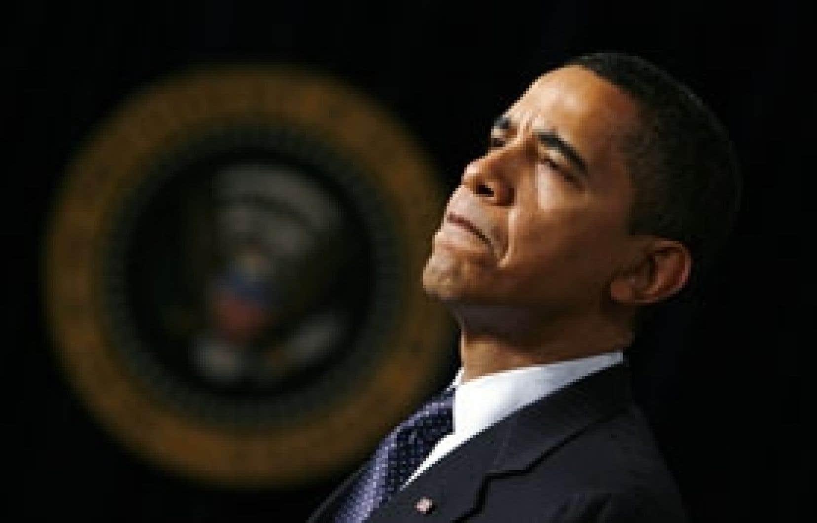 «Aujourd'hui, je prends l'engagement de réduire de moitié, d'ici la fin de mon premier mandat, le déficit dont nous avons hérité», a déclaré à la Maison-Blanche Barack Obama.