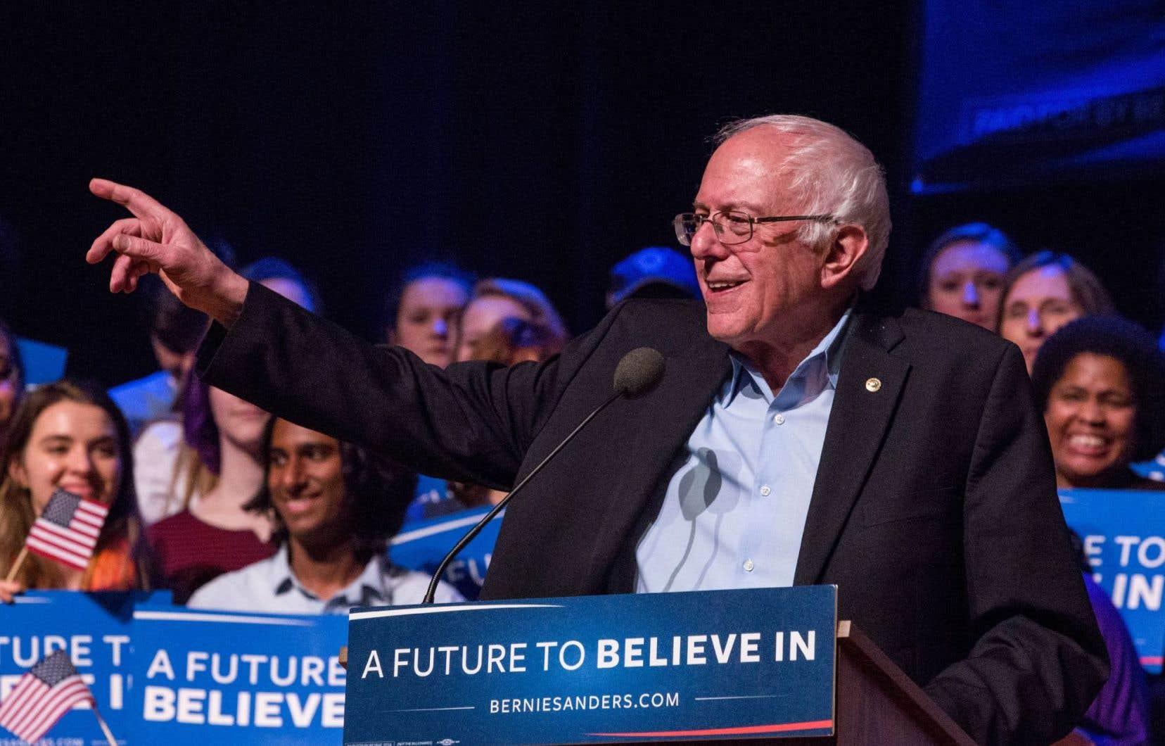 Malgré ses 74ans, le sénateur du Vermont Bernie Sanders est le favori des jeunes électeurs démocrates de la «génération du millénaire».