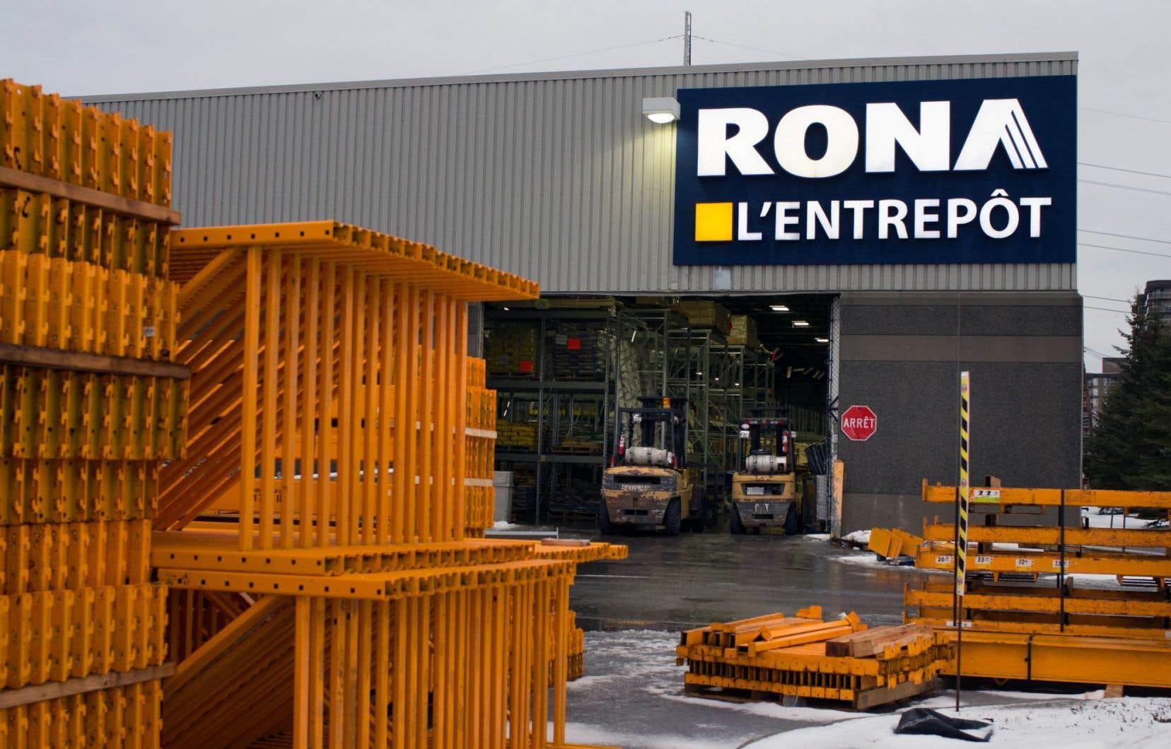 Rona estime que sa restructuration d'il y a trois ans a permis de redresser les ventes de ses magasins ouverts depuis au moins un an.