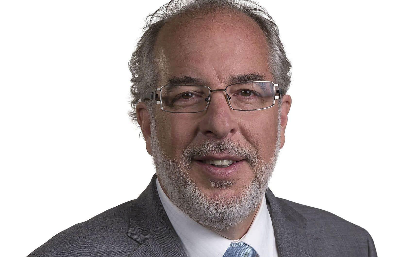 Le chef du Bloc québécois, Rhéal Fortin