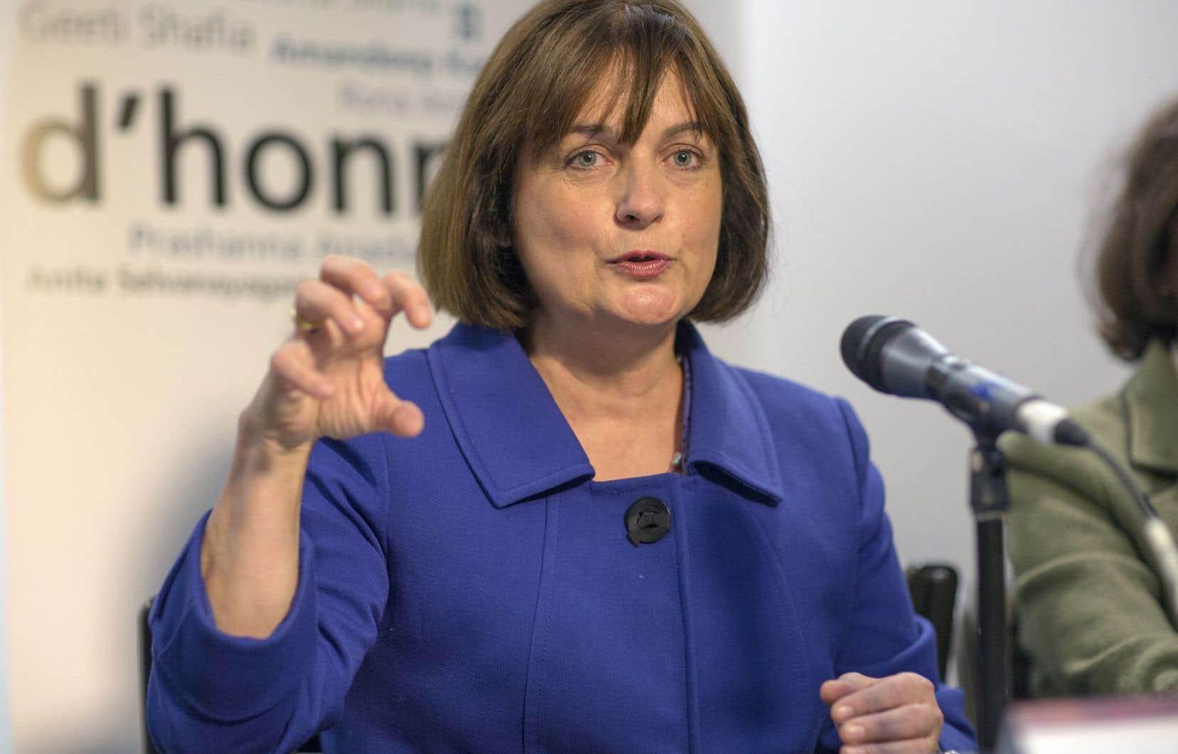 La présidente du Conseil du statut de la femme (CSF), Julie Miville-Dechêne