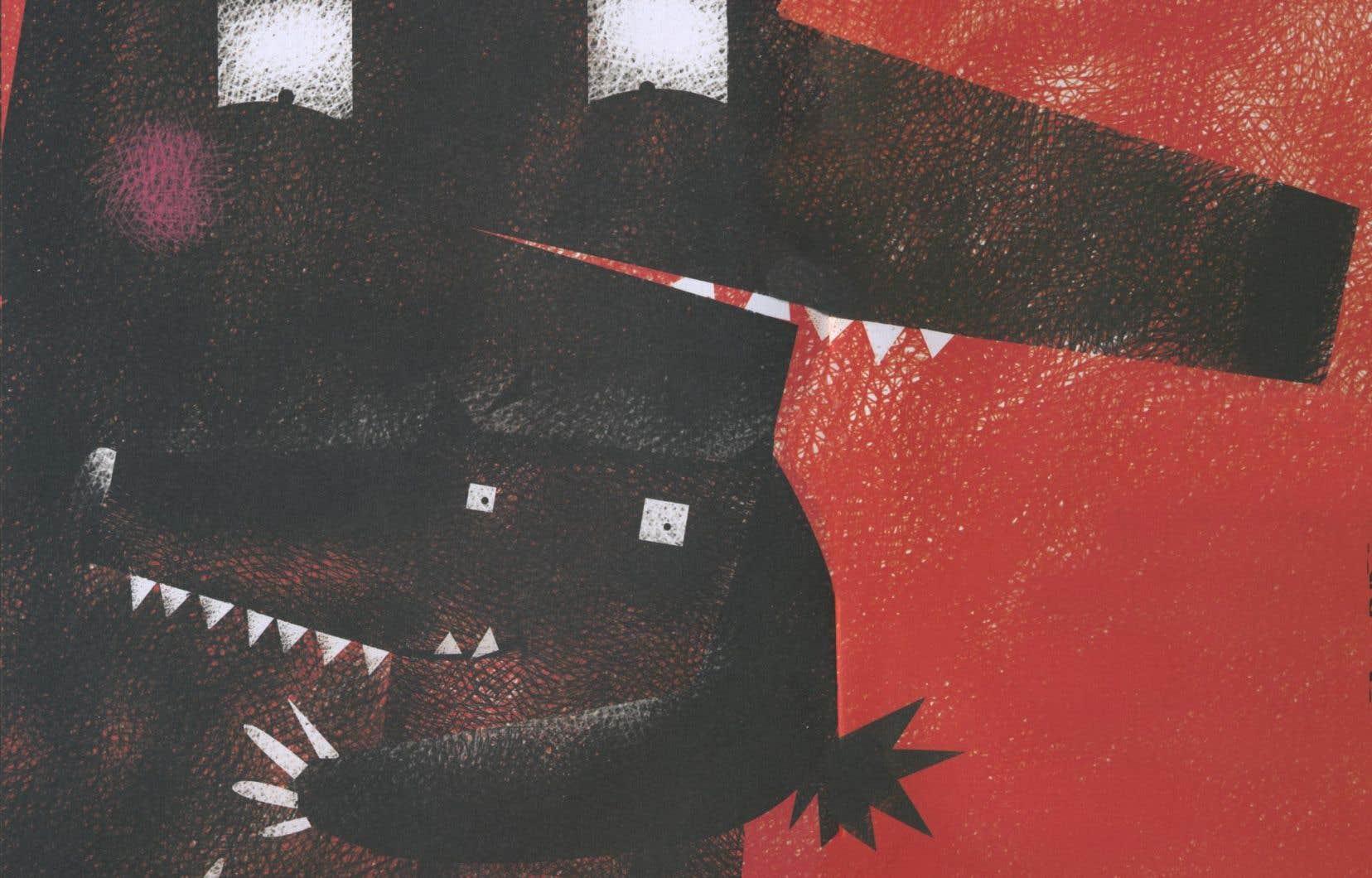 «À qui sont ces grandes dents?» de Sandrine Beau et Marjorie Béal mise sur un album au graphisme épuré.