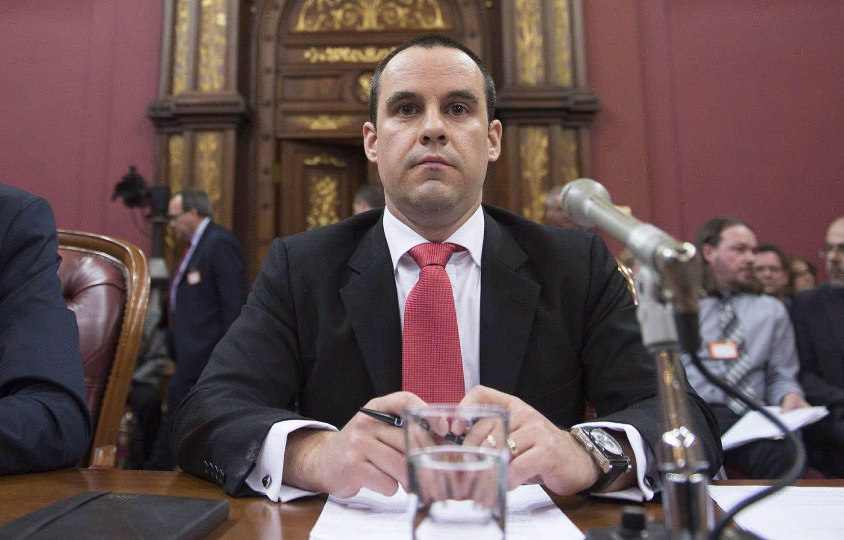 Jean-Nicolas Guillemette, d'Uber, était entendu jeudi à la consultation sur le transport rémunéré de personnes par automobile.