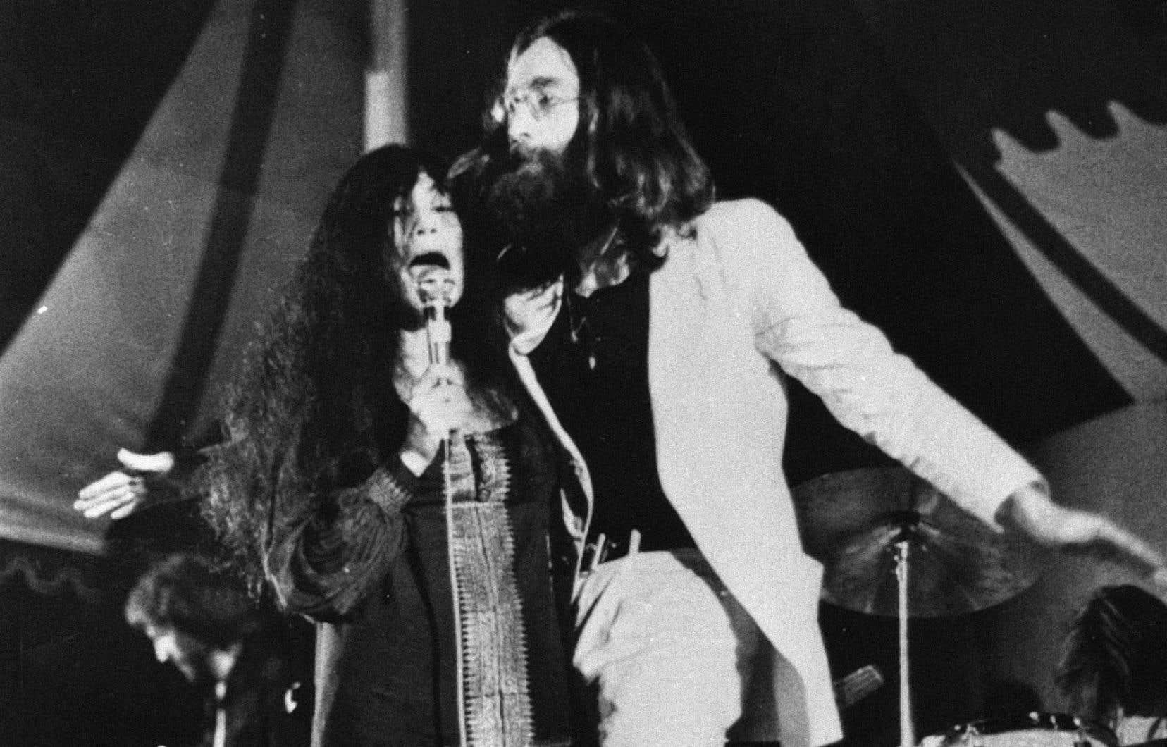 John Lennon et Yoko Ono à Toronto en 1969
