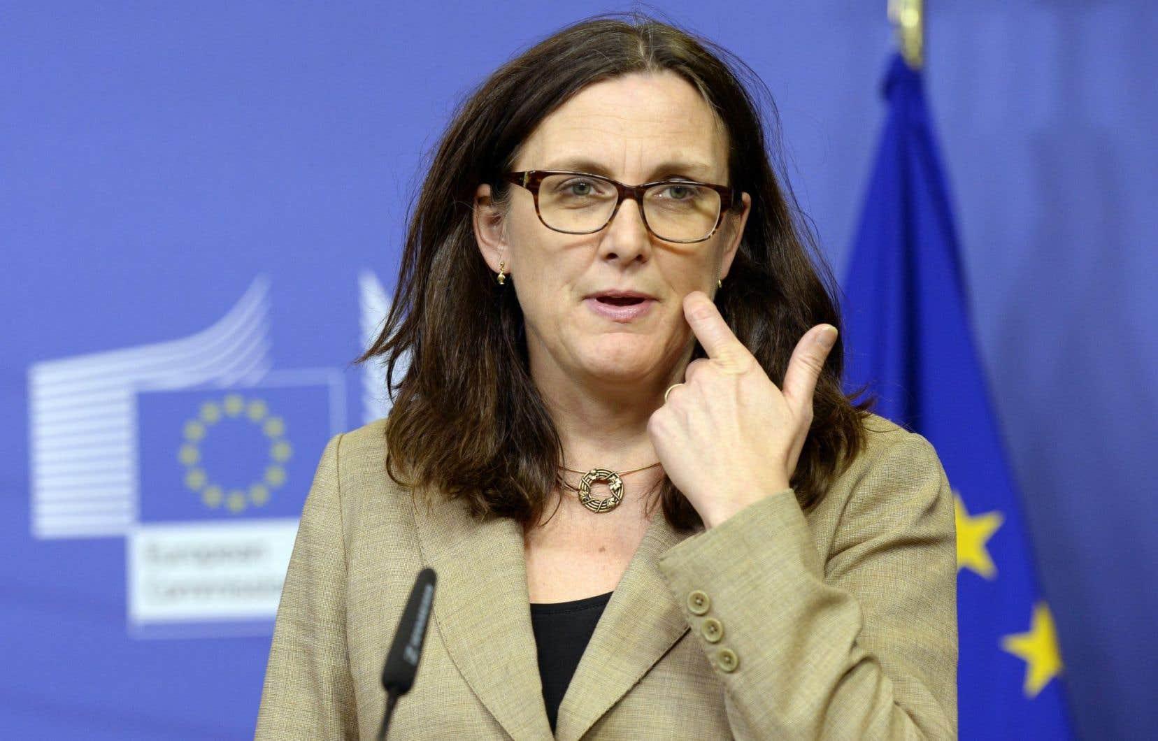 La commissaire européenne au Commerce, Cecilia Malmström