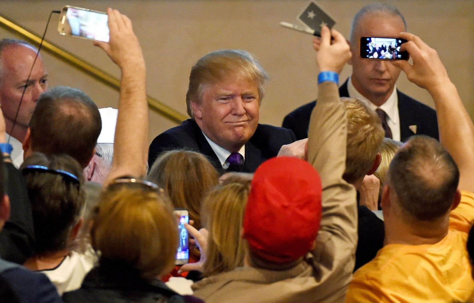 Donald Trump a rencontré ses partisans lundi soir, après les primaires dans le Nevada.