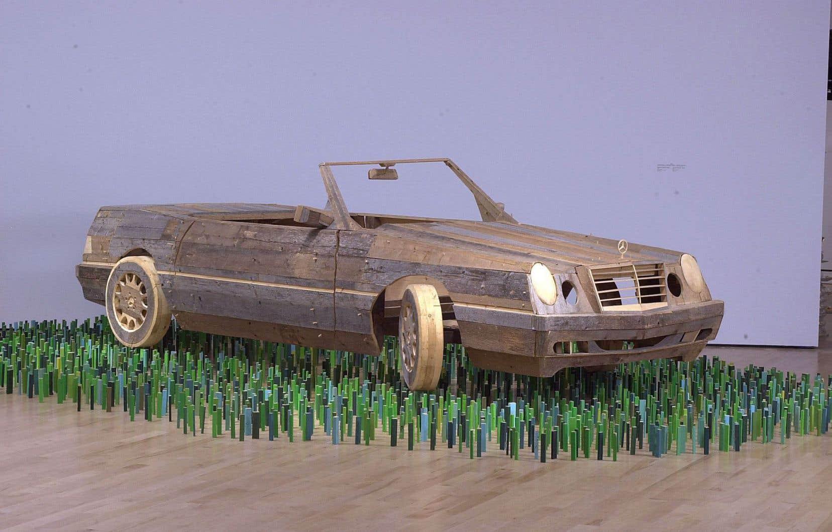 L'œuvre «Perdu dans la nature (La Voiture)» de BGL peut être admirée au Musée national des beaux-arts de Québec.