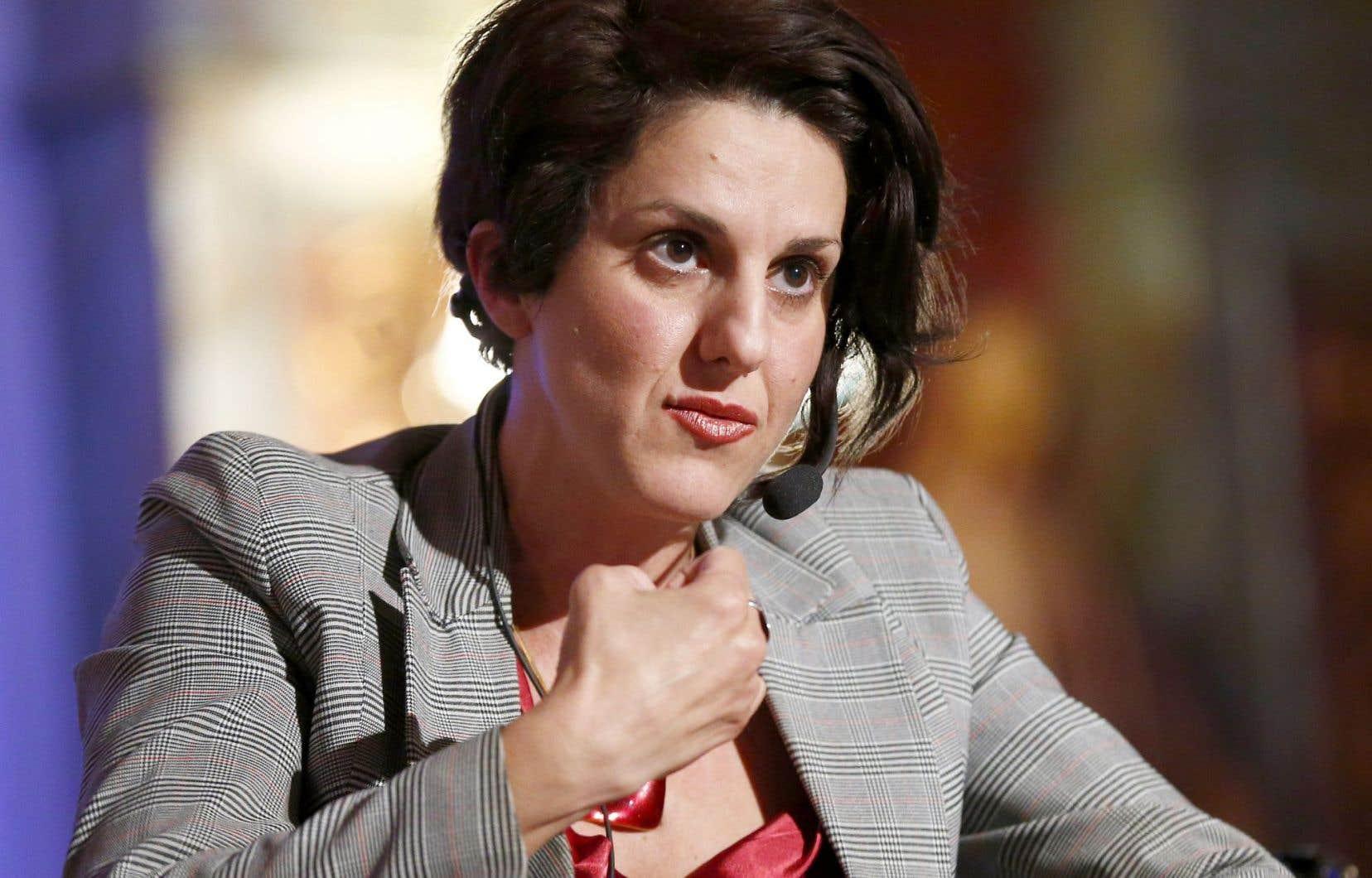 Djemila Benhabib lors d'un débat politique en 2013