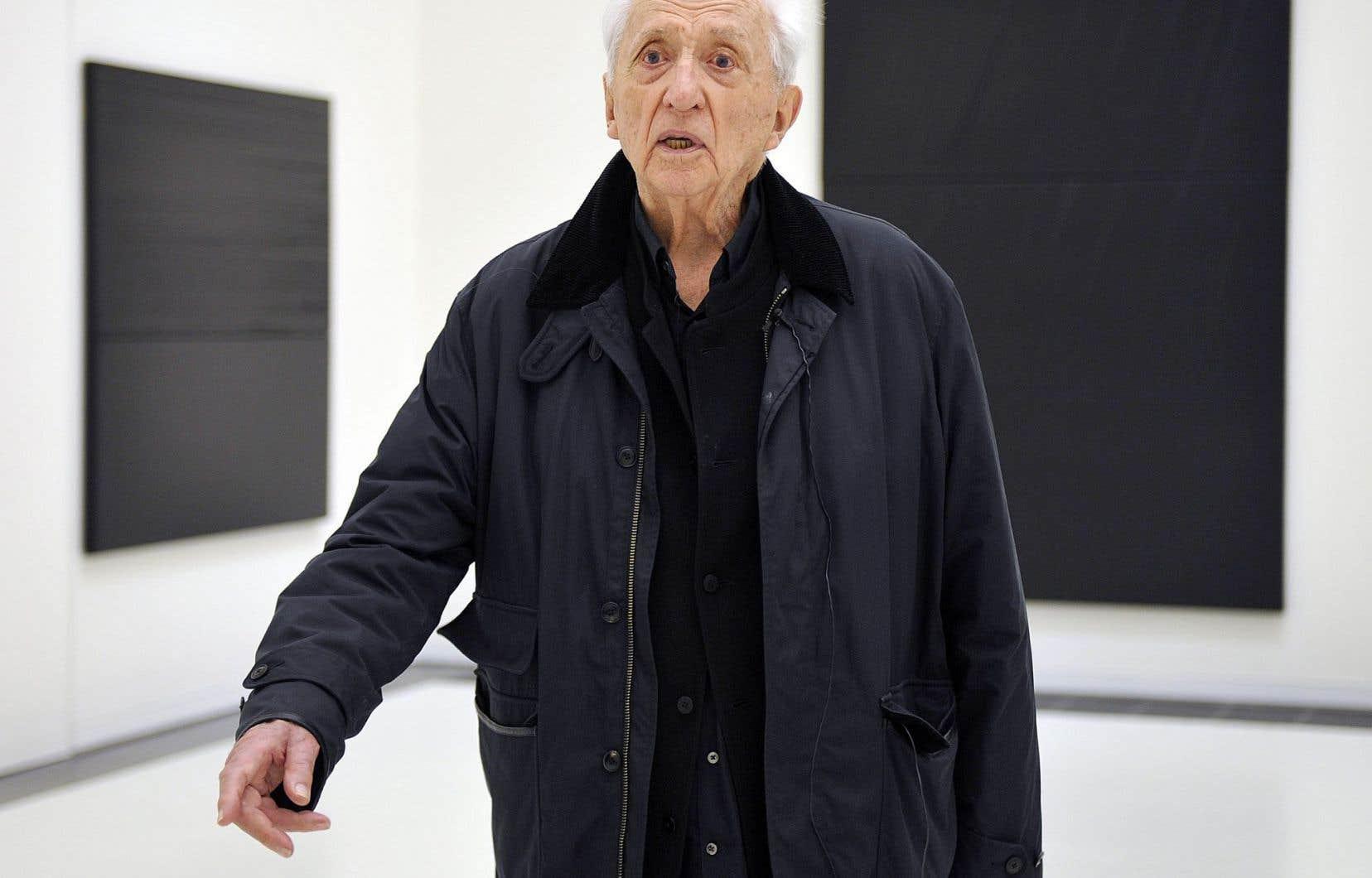 L'usage que fait l'artiste Pierre Soulages du noir est reconnu.