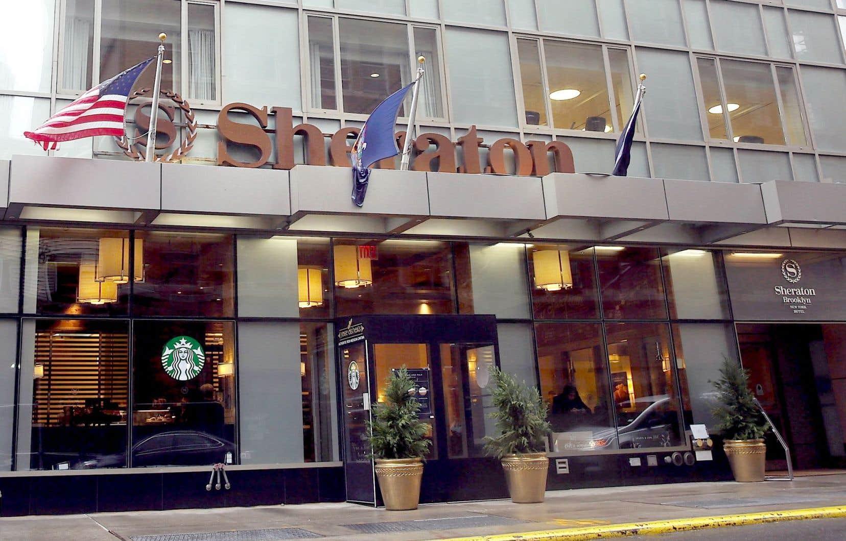 Le Sheraton fait partie de la chaîne Starwood. Un groupe chinois est entré en concurrence avec Marriott pour l'achat de Starwood.
