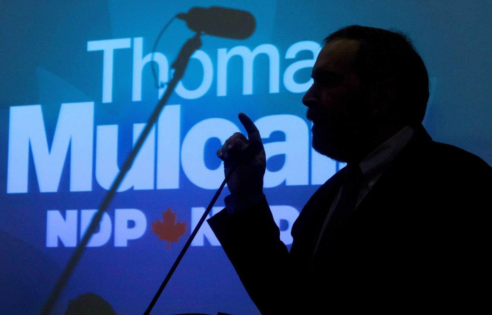 Le chef du NPD, Thomas Mulcair, n'a pas commenté les appels à son départ, mardi.