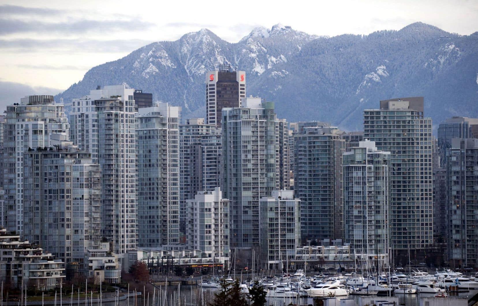 Vue de Vancouver, bordé par les Rocheuses