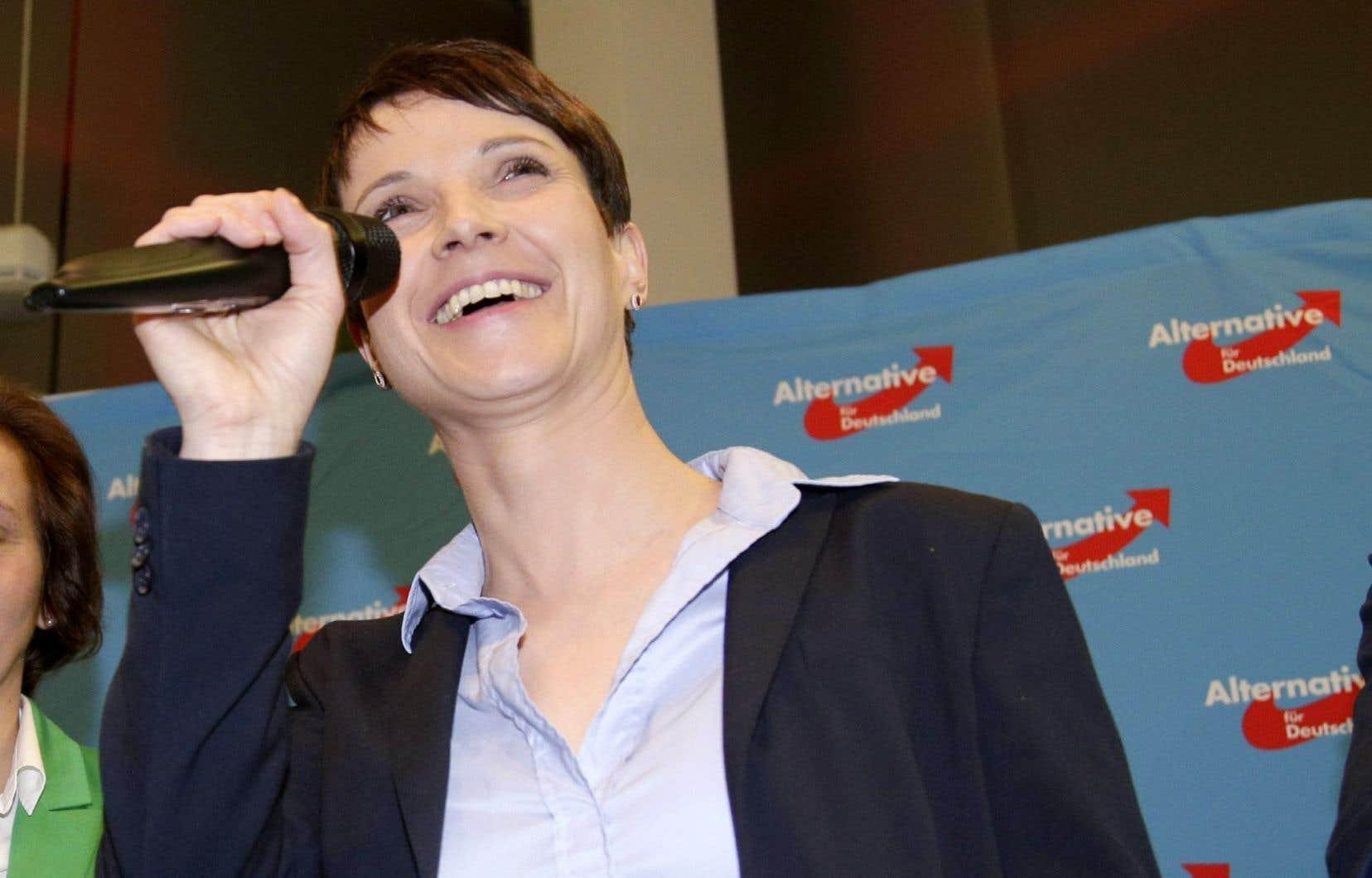 Frauke Petry, chef du parti Alternative für Deutschland