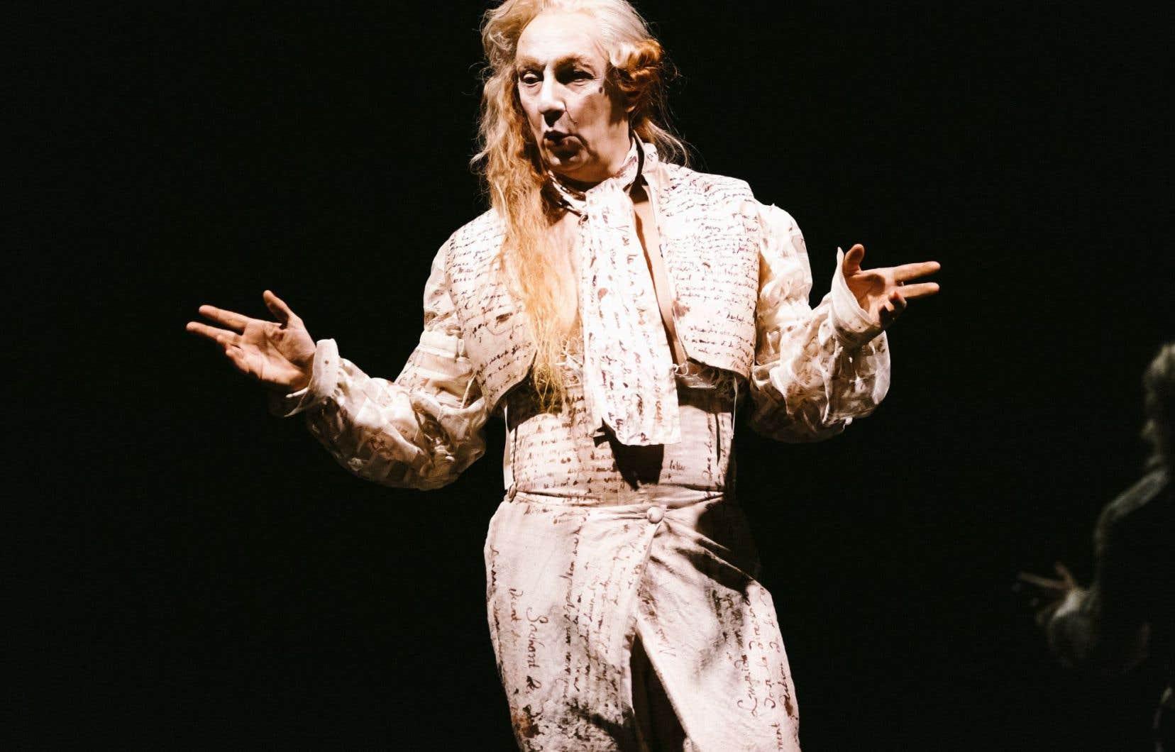 Robert Lepage dans la pièce «Quills»