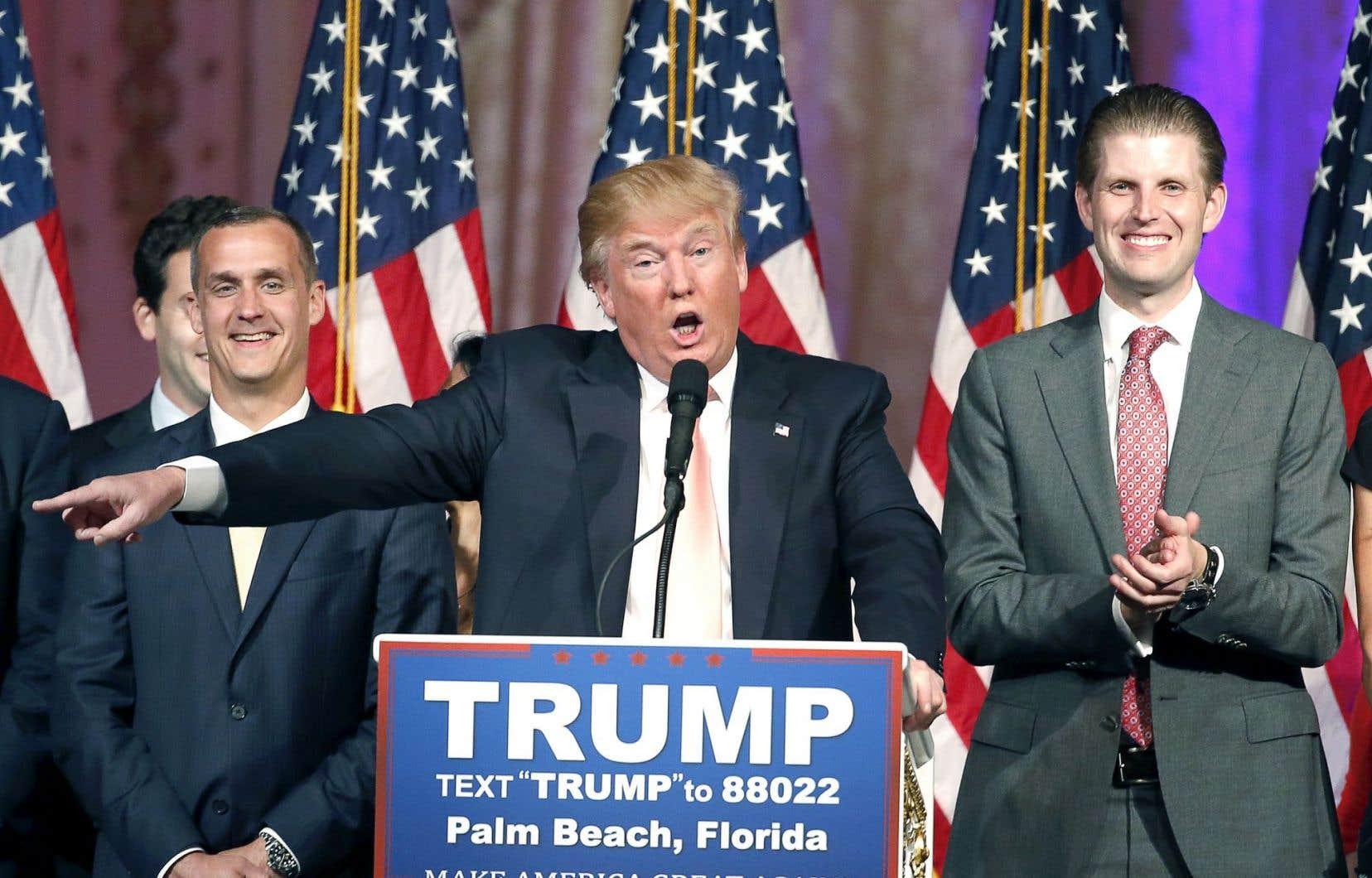 Donald Trump était triomphant après sa victoire en Floride.
