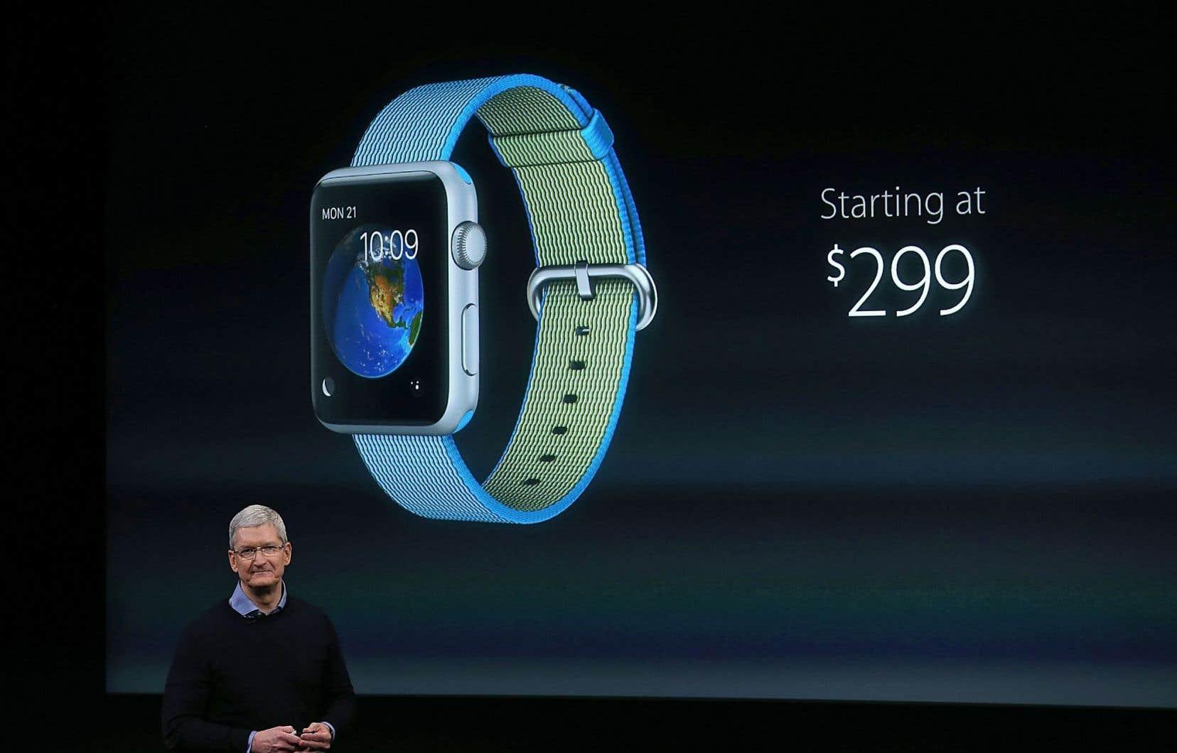 Le patron d'Apple, Tim Cook, a annoncé le nouveau prix de la montre connectée.