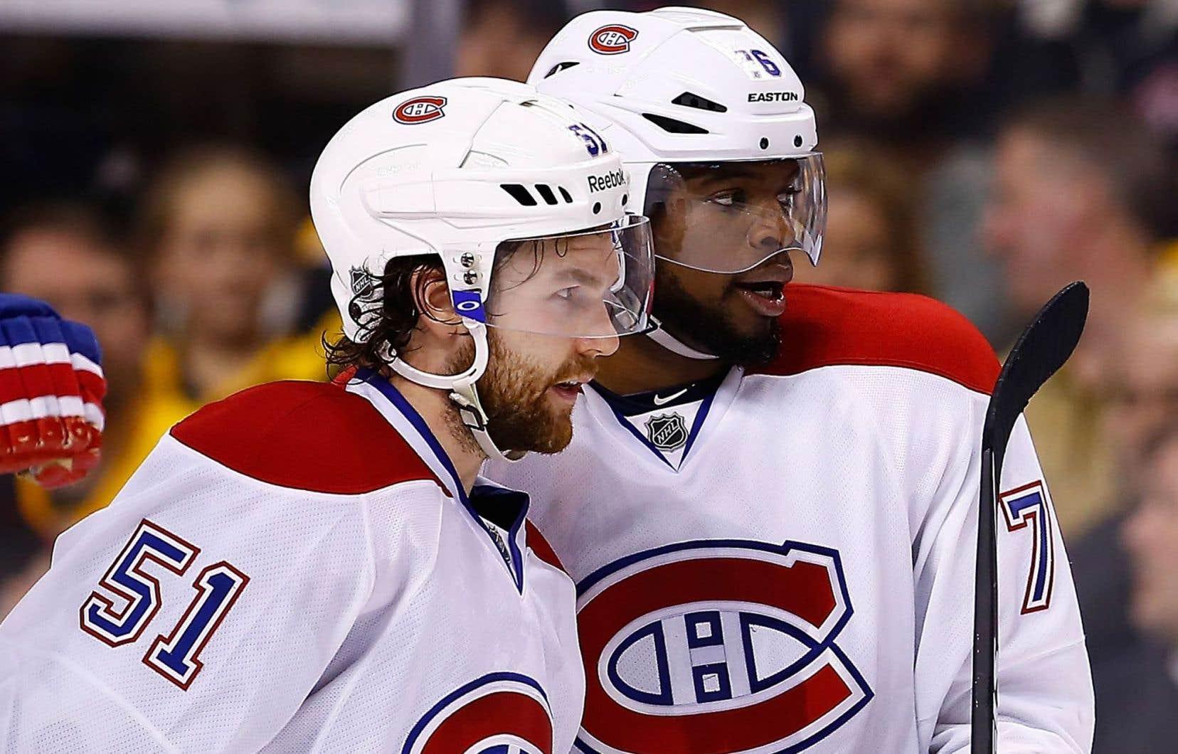 Deux joueurs de l'alignement régulier, P.K. Subban et David Desharnais, s'apprêtent à revenir au jeu.