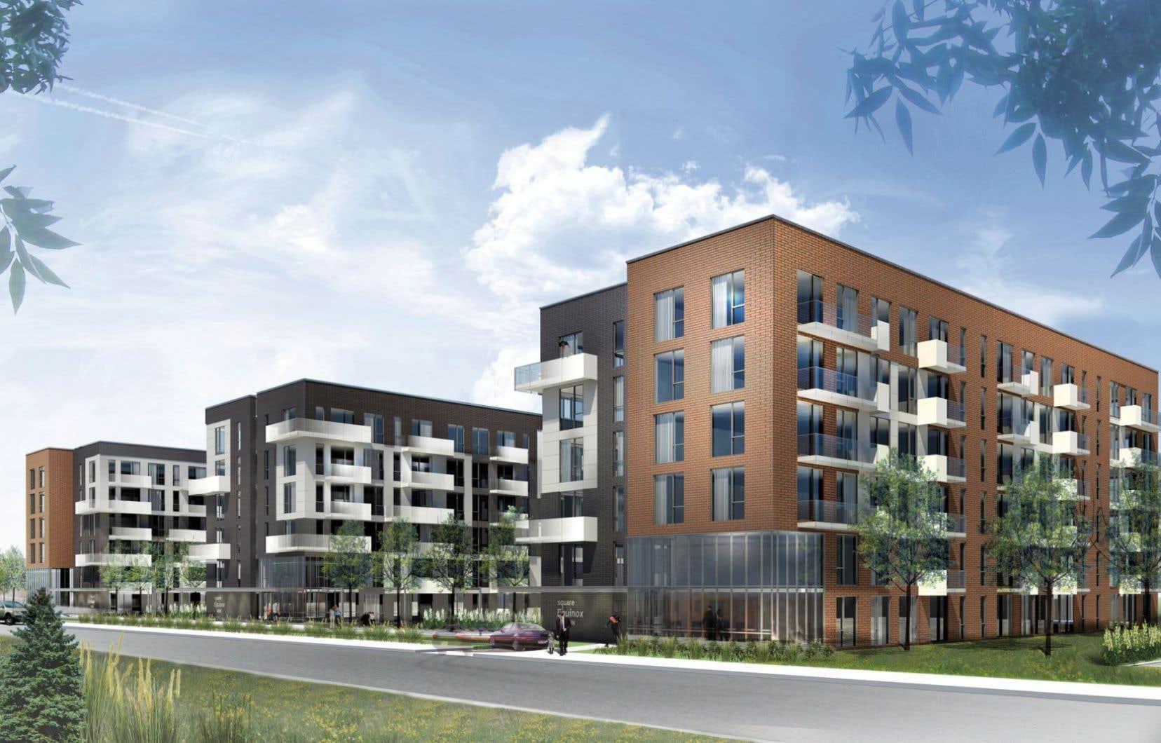 Les premiers acheteurs séduits par le projet emménagent ces jours-ci dans la phase I du Square Equinox, un bâtiment de 55 unités sur six étages.