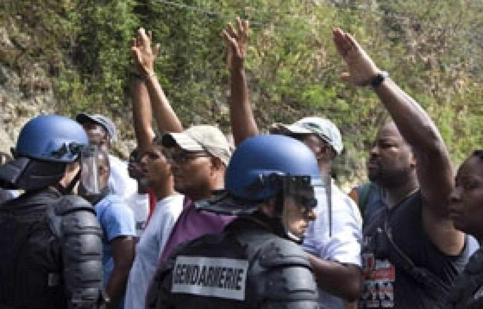 Les policiers sont intervenus hier à Pointe-à-Pitre.