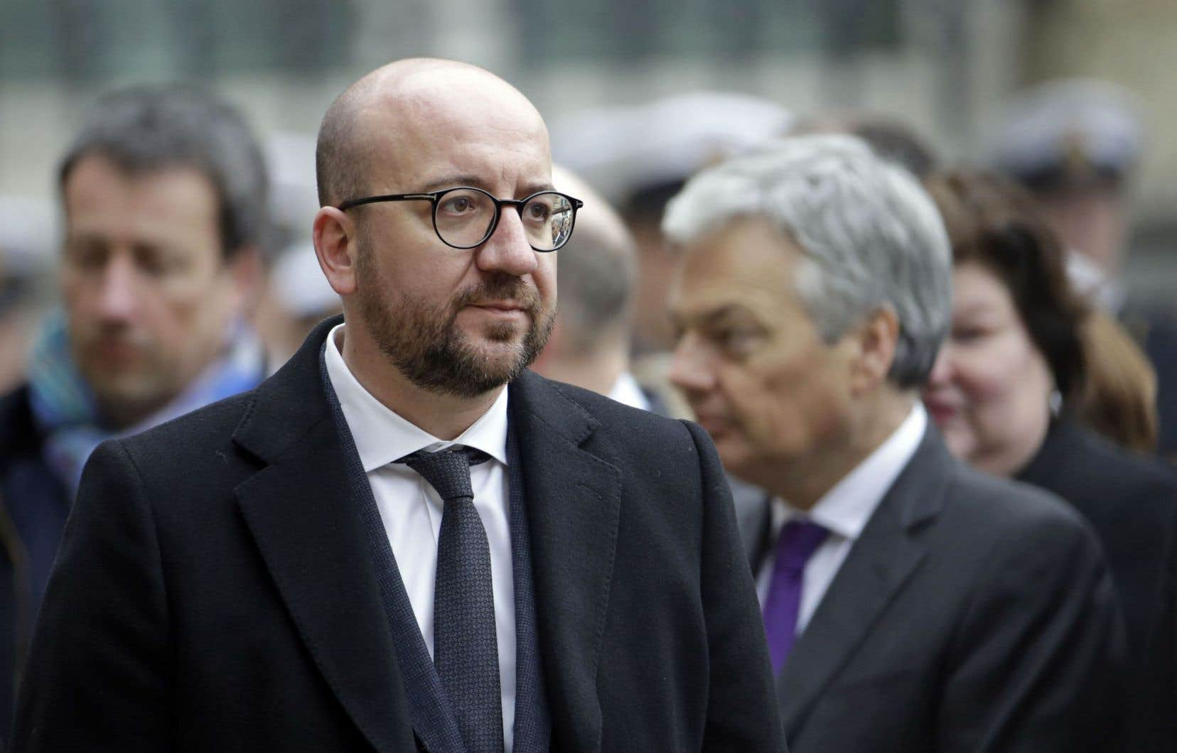 Le premier ministre belge, Charles Michel, a participé jeudi à une cérémonie rendant hommage aux victimes des attentats.