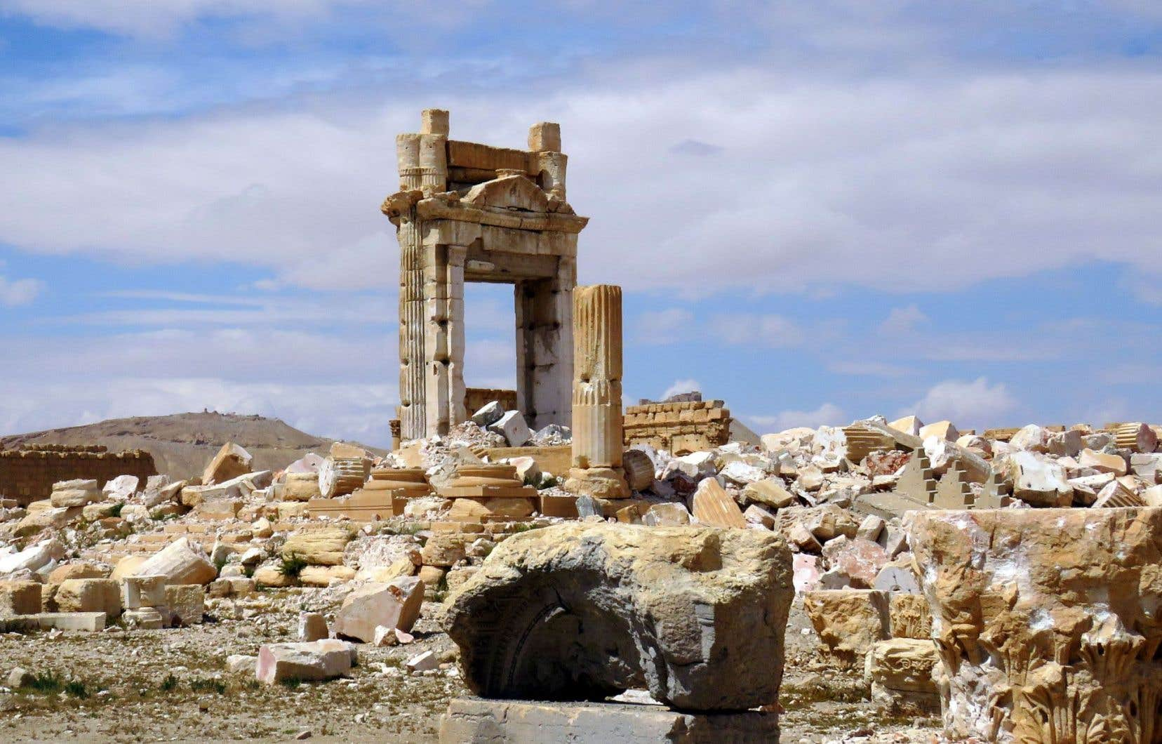 Les restes du temple de Baal, à Palmyre, que le groupe armé État islamique a détruit en partie, avant d'être expulsé de la ville tout récemment